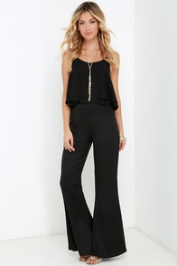Mink Pink Back to Life Black Flare Pants at Lulus.com!