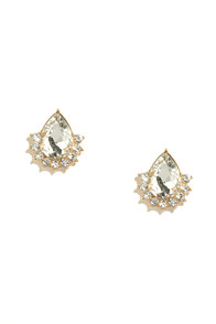image Delicate Diligence Clear Rhinestone Earrings