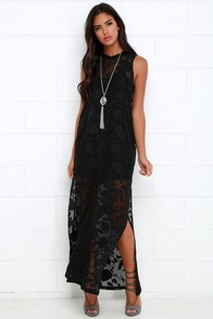 Gentle Fawn Tower Black Sleeveless Maxi Dress at Lulus.com!