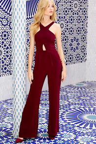 Sexy and I Know It Wine Red Jumpsuit at Lulus.com!