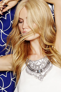 Siren of Shimmer Silver Rhinestone Statement Necklace at Lulus.com!
