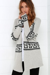Gentle Fawn Marble Grey Print Cardigan Sweater at Lulus.com!