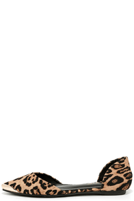 Menagerie Leopard D'Orsay Flats at Lulus.com!