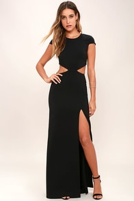 image Conversation Piece Black Backless Maxi Dress