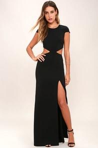 Conversation Piece Black Backless Maxi Dress