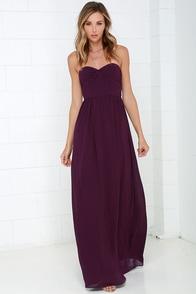 Sapphires or Rubies Plum Purple Strapless Maxi Dress at Lulus.com!