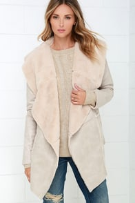 Where Buffalo Roam Beige Sherpa Coat at Lulus.com!