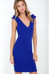 Briefcase Belle Royal Blue Midi Dress at Lulus.com!