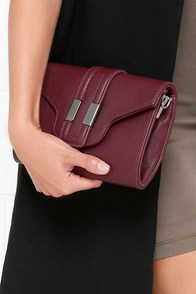 Catered to You Burgundy Purse at Lulus.com!