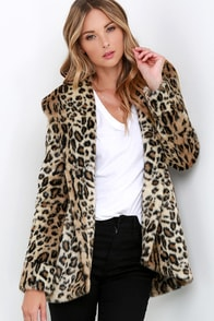Amuse Society Teagan Leopard Print Faux Fur Coat at Lulus.com!