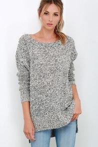 Cherished Embrace Grey Sweater at Lulus.com!
