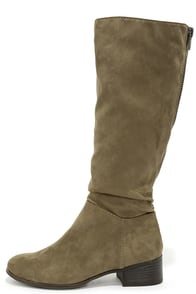 Madden Girl Persiss Taupe Suede Knee-High Boots at Lulus.com!