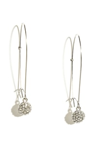 Young Love Silver Rhinestone Earrings at Lulus.com!