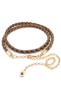 By the Roadside Brown Braided Belt at Lulus.com!