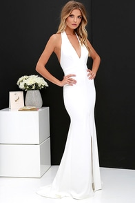 Time Out of Mind Ivory Halter Maxi Dress at Lulus.com!