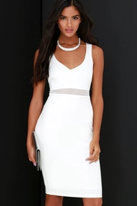 Best Meshed Ivory Midi Dress at Lulus.com!