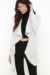 Amuse Society Teller Light Taupe Sweater at Lulus.com!