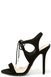 Forever Young Black Lace-Up Heels at Lulus.com!