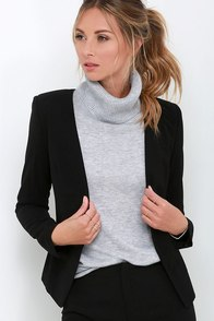 Team Leader Black Cropped Blazer at Lulus.com!