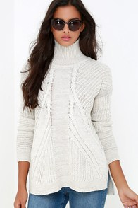 Born and Raised Light Beige Cable Knit Sweater at Lulus.com!