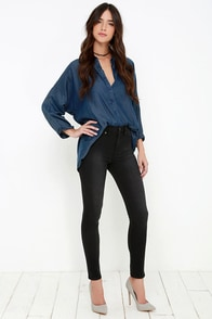 Dittos Kelly Washed Black High Rise Jeggings at Lulus.com!
