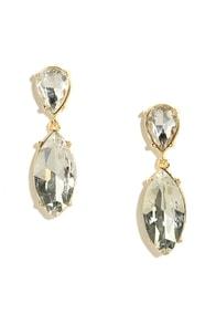Prime Shine Gold Rhinestone Earrings at Lulus.com!