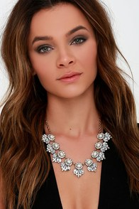 Vision in Pearls Clear Rhinestone Statement Necklace at Lulus.com!