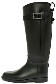 Dirty Laundry Riff Raff Black Rain Boots at Lulus.com!