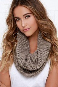 Alpine-ing For You Taupe Infinity Scarf at Lulus.com!