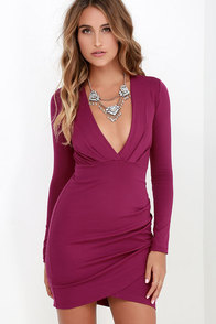 Got A Ruche On You Magenta Bodycon Dress at Lulus.com!