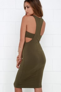 What I Got Olive Green Bodycon Dress at Lulus.com!