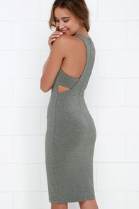 What I Got Heather Grey Bodycon Dress at Lulus.com!