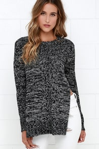 From Coast To Cozy Black And Ivory Sweater at Lulus.com!