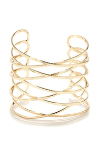 On the Road Again Gold Cuff Bracelet at Lulus.com!