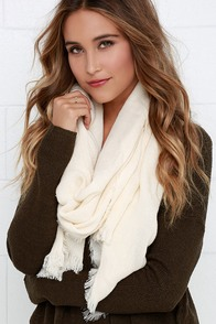 Second Star to the Right Cream Scarf at Lulus.com!