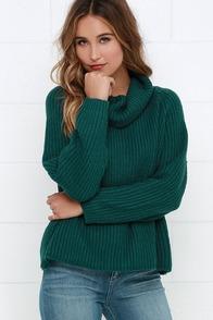 Cuddle Puddle Teal Blue Sweater at Lulus.com!