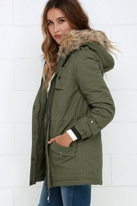 Green Parka Jacket Photo Album - Reikian