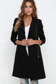Dawn to Dusk Black Coat at Lulus.com!