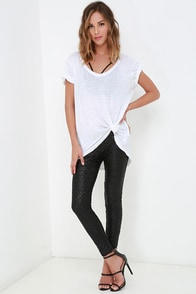 Amuse Society Charley Black Sequin Leggings at Lulus.com!