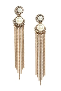 Kiss Me Quick Gold and Pearl Earrings at Lulus.com!