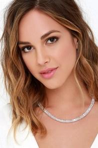 Catch a Falling Star Silver Rhinestone Necklace at Lulus.com!