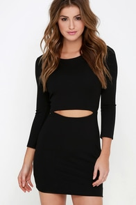 It's Been a Slice Black Long Sleeve Dress at Lulus.com!