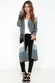 Jack by BB Dakota Case Slate Blue Striped Sweater at Lulus.com!