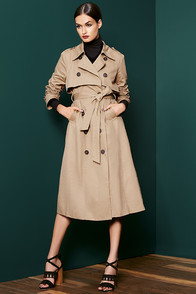 Weather or Not Tan Trench Coat