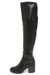All My Wishes Black Over the Knee Boots at Lulus.com!
