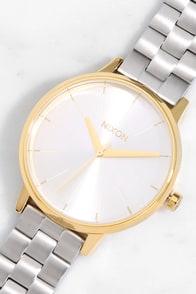 Nixon Kensington Gold and Silver Watch