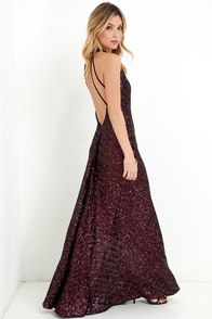 Dress the Population Veronica Black and Red Sequin Maxi Dress at Lulus.com!