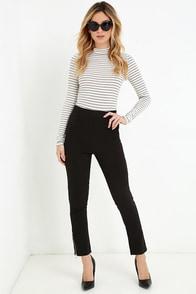Piano Piece Black High-Waisted Trouser Pants $42.00 AT vintagedancer.com
