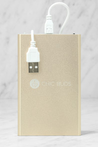 Chic Buds Premium Power Gold External Battery