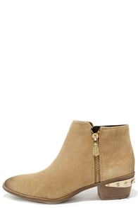 Circus by Sam Edelman Holt Camel Suede Leather Ankle Boots